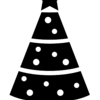 Christmas tree - black