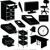 silhouette-office organization