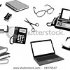 silhouette-office objects