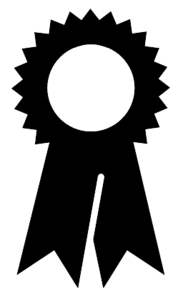 Award ribbon - black